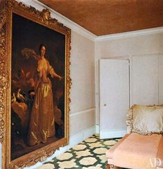 Painting of Elizabeth Montagu The portrait of Elizabeth Montagu, a gift from her husband, is one of only two paintings in the apartment.