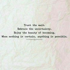 *See more Hope Quotes* https://www.pinterest.com/QuotesArchive/hope-quotes/ @QuotesArchive #Patience #Embrace #Opportunities