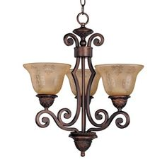 Bring some Old World style to your home with this enchanting three-light chandelier from the Symphony Collection. Comes with 17' of wire and 6' of chain.