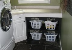 laundry room organization idea