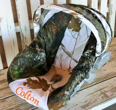 Mossy Oak Camo w/ realtree snow camo Car seat by SqueakyBugBabies, $57.00