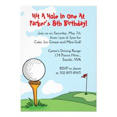 Mini Golf Themed Birthday Party Invitations Free Printable
