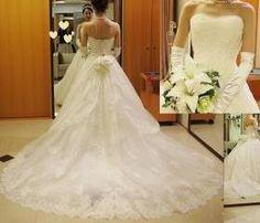 White Wedding Dresses, Strapless Wedding Dresses, Sweep Train Wedding Dresses, Zipper Wedding Dresses, Sleeveless Wedding Dresses, Custom Wedding Dresses
