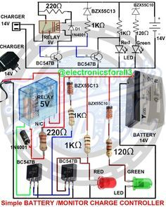 Electronics For All Electronics Projects, Simple Electronics, Hobby Electronics, Electronics Gadgets, Electronics Components, Electronic Circuit Design, Electronic Engineering, Electrical Engineering, Led Projects