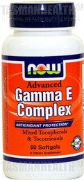 Gamma E Complex offers high-strength antioxidant action to protect the heart, prostate, and colon from the harmful effects of free radicals. It uses the gamma-Tocopherol form of Vitamin E because of its unique ability to trap and get rid of destructive forms of free radicals. Free radicals are implicated in atherosclerosis, coronary artery disease, and some forms of cancers. - See more at: http://www.tasmanhealth.co.nz/now-foods-gamma-e-complex/