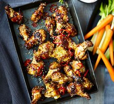 A lip-smacking snack of sticky wings that's ideal for munching at a party or while watching a movie on the sofa