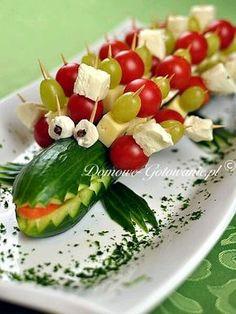 más y más manualidades: Creativas maneras de servir charolas de verduras