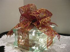 Burgundy & Gold Swirl Glitz Ribbon on clear by Originalsbysuej, $20.00