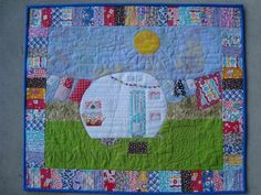 vintage camper mini quilt - WHO can A&E me one? :)