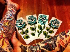 624fd4e52d39f Traditional Blue Rose Flash Art by bettyrosetattoos on Etsy