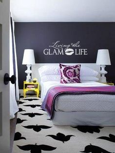 For some reason this makes me think of my SIL ;-)....Living The Glam Life wall art decal vinyl lettering girls room decor stickers