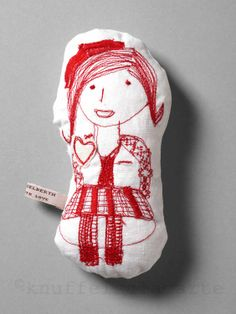 Embroidered doll http://www.knuffelsalacarte.com/Claire-p-16711.html