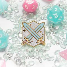 Geek Gear, Cool Pins, Sparkles Glitter, Pin And Patches, Hard Enamel Pin, Stickers, Lapel Pins, Pin Collection, Dungeons And Dragons