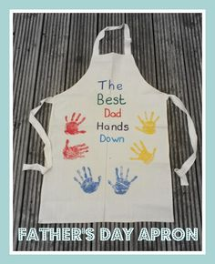 Fathers day apron - Fab idea for a #FathersDayGift Doing this since he is the cook of the house and loves to grill <3