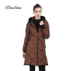 ad64cb7fbc Click to Buy << Women Winter Jacket Hooded Cotton-Padded Wadded Jacket. >>