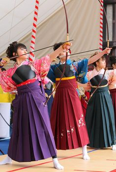 Japanese archers. Photo copyright 2011 The Sankei Shimbun & Sankei Digital.