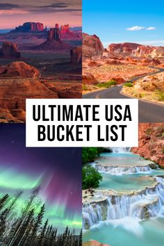 The BEST USA Bucket List Destinations Not to Miss! Planning a trip and looking for the best USA bucket list destinations? This comprehensive list has some of the top things to see, do and eat across America. Usa Travel Guide, Travel Usa, Travel Guides, Travel Tips, Free Travel, Japan Travel, Italy Travel, Us Destinations, Bucket List Destinations