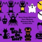 Skulls, witches, bats, cats, trees, and much more. These ghoulish clips are in png format. Most come with black line masters. Easy to layer and res...