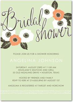 This Wildflower Shower bridal shower invitation is super pretty!