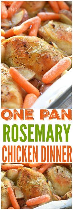 One Pan Rosemary Chicken Dinner via @simplistcliving
