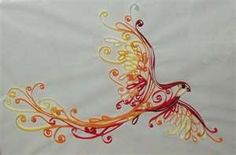 gorgeous bird quilling Here's the direct link to the larger picture & creator of this quilled Firebird: http://craft-lover.deviantart.com/art/Fire-bird-173936497