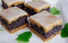 Makový koláč / řezy Slovak Recipes, Czech Recipes, Raw Food Recipes, Sweet Recipes, Cake Recipes, Dessert Recipes, Cooking Recipes, Oreo Cupcakes, Dessert Bars