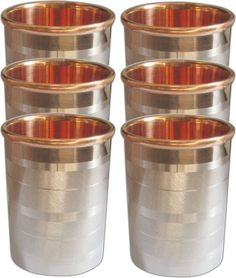 Handmade Drink ware Accessories Pure Copper & Stainless Steel Glass / Cup 9 Oz  #VisvabhavanahMart