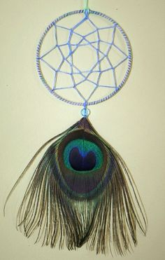 FREE SHIPPING Peacock Green Blue Purple Dreamcatcher by PsyMagic, €13.33