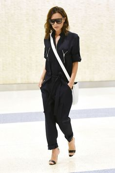 Victoria Beckham at JFK Airport in New York on June 2016 #victoriabeckham