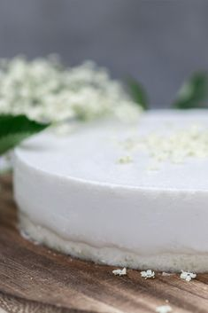 Holunderblüten Panna Cotta Torte mit Wasserkefir