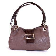 Ladies Buckle Handbag Shoulder Bag Italian Purse - Taupe £15.95