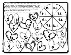 Valentine Math Time -  4 Math cooperative activities for math that review numbers, number words, tally marks, adding plus 1 and subtraction minus 1. Perfect for centers or math warm up activity. Fantastic for a KAGAN Rally Coach activity. My students love partner games and you will too!! Have Fun!! $ On Sale Sunday!