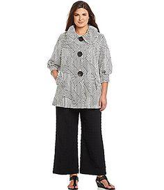 a53dcca9d26c IC Collection Woman Chevron Jacket  Dillards