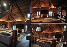 Sleak log cabin