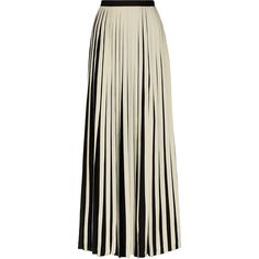 striped crepe de chine maxi skirt by Malene Birger