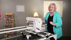 Vicki Hoth demonstrates steps to setup the HQ Simply Sixteen. Longarm Quilting, Free Motion Quilting, Quilting Tips, Handi Quilter, Janome, Sweet Sixteen, Get Started, Quilts, Sewing Machines