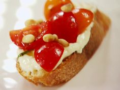 Tomato Crostini with Whipped Feta recipe from Ina Garten via Food Network