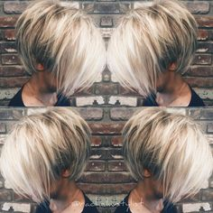 100 Mind-Blowing Short Hairstyles for Fine Hair - hair styles for short hairDo you want a new trendy haircut for the spring-summer 2019 season? Well, one of the most trendy haircuts this year is the pixie haircut. Bob Hairstyles For Fine Hair, Trending Hairstyles, Pixie Hairstyles, Short Hairstyles For Women, Bob Haircuts, Layered Hairstyles, Casual Hairstyles, School Hairstyles, Haircut Bob