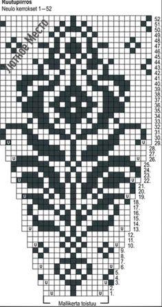 Tapestry Crochet Patterns, Fair Isle Knitting Patterns, Lace Knitting Patterns, Knitting Stiches, Bead Loom Patterns, Knitting Charts, Knitting Designs, Hand Knitting, Crochet Pullover Pattern