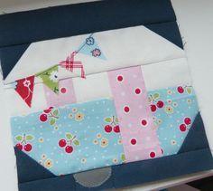vintage camper quilt block - free pattern
