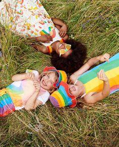 Paint Rainbow Cotton T Shirt - Stella Mccartney Kids