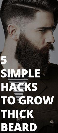 5 Simple Hacks To Grow Thick Beard