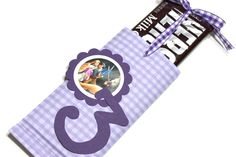 Candy bar sliders (10) wrappers Tangled, Disney Princesses or Cars Birthday Party Favors, candy bar wrappers. $16.00, via Etsy.