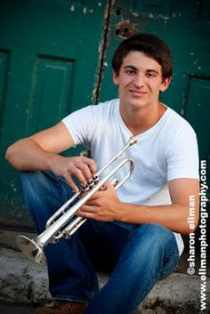 Senior Picture / Photo / Portrait Idea - Musician - Band - Trumpet The Effective Pictures We Offer You About Musical Band vintage A quality picture can tell you many things. You can find the most beau Boy Senior Portraits, Senior Boy Poses, Senior Boy Photography, Musician Photography, Band Photography, Senior Guys, Senior Year, Photography Collage, Inspiring Photography