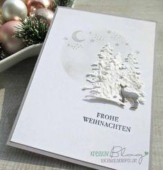 Dies waren die allerersten Weihnachtskarten, die schon vor einigen Wochen entstanden sind. Ich habe etwas mit der Strukturpaste und den Fi...