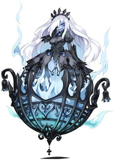 Will-o-the-Wisp - Monster Girl Encyclopedia Wiki - Wikia Character Concept, Character Art, Concept Art, Fantasy Girl, Art Anime, Manga Anime, Monster Girl Encyclopedia, Gijinka Pokemon, Anime Monsters