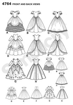 Simplicity 4764 - Child Special Occasion Dresses (Line Art) Dress Drawing, Drawing Clothes, Fashion Design Drawings, Fashion Sketches, Princess Dress Patterns, Princes Dress, Occasion Spéciale, Floral Shirt Dress, Simplicity Sewing Patterns