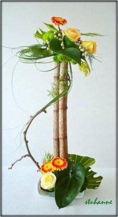 Contemporary Flower Arrangements, Creative Flower Arrangements, Tropical Floral Arrangements, Unique Flower Arrangements, Funeral Flower Arrangements, Ikebana Flower Arrangement, Ikebana Arrangements, Unique Flowers, Deco Floral