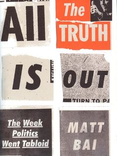 February 01, 2016  All the Truth is Out: The Week Politics Went Tabloid Book Review  By Angela Hart  All the Truth is Out: The Week Politics Went Tabloid by Matt Bai is a fascinating read. The book focuses on Gary Hart's public scandal, which became a precedent for future political representatives having their lives on display for the public. Having Hart's personal life and public persona both come under scrutiny by the m…