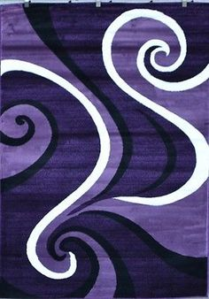 0327 Purple Black White 2u00270x3u00274 Area Rug Abstract Carpet